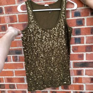J.crew top size M new whit beautiful sequins.